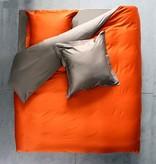 Lysdrap Dekbedovertrek Gemini Egyptisch katoen- Oranje bruin