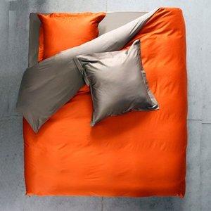 Lysdrap Dekbedovertrek Gemini Egyptisch katoen 300TC - Oranje bruin