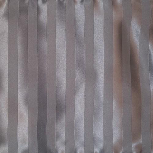 Zijden dekbedovertrek Stripes Grey gratis service set