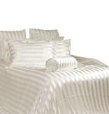 Silk Heaven Zijden dekbedovertrek Stripes Ivoor + gratis service set