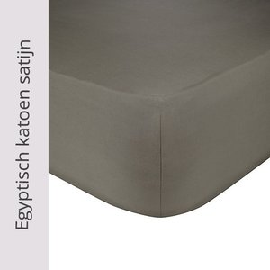 Lysdrap Hoeslaken Egyptisch katoensatijn 300TC  - Grijs