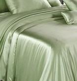 Silk Heaven Zijden dekbedovertrek Licht Groen + gratis service set