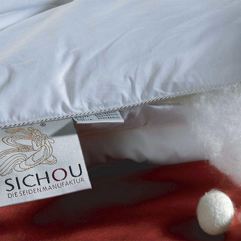 Sichou Zijden 4 Seizoenen dekbed set - katoenen tijk (175 + 300 g/m2) Wasbaar