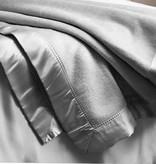 Zijden zomer deken/ plaid -  Grijs
