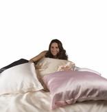 Silk Heaven 100% Zijden kussensloop Roze hotelsluiting - 19MM