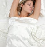 Silk Heaven Gezins Deal. 4x100% Zijden kussensloop Wit hotelsluiting - 19MM