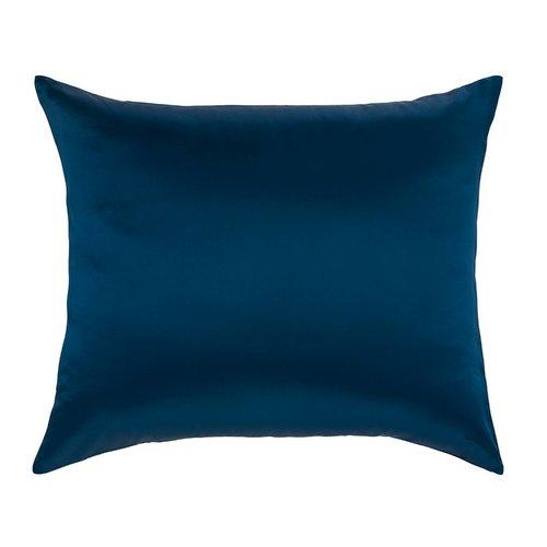 Silk Heaven 100% Zijden kussensloop Blauw hotelsluiting - 19MM