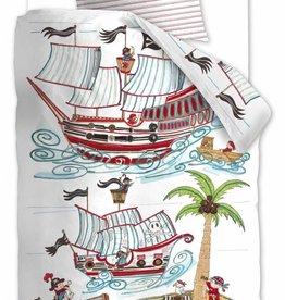 Beddinghouse Pirate Ship Blauw - Dekbedovertrek
