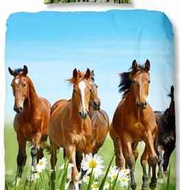Good Morning Paarden 2 - Dekbedovertrek