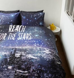 Beddinghouse Reach the Stars Blauw - Dekbedovertrek
