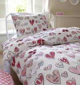 Beddinghouse Pretty Hearts Roze - Dekbedovertrek
