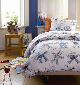 Beddinghouse Funny Robots Blauw - Dekbedovertrek