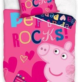 Peppa Pig, Rocks - Dekbedovertrek