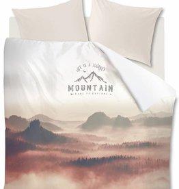 Ambiante Misty Mountains, Nude - Dekbedovertrek
