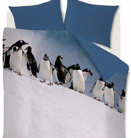 Ambiante Penguins, Ijsblauw - Dekbedovertrek