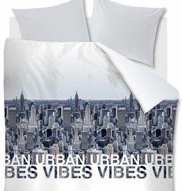 Ambiante Urban Vibes, Blauw Grijs - Dekbedovertrek