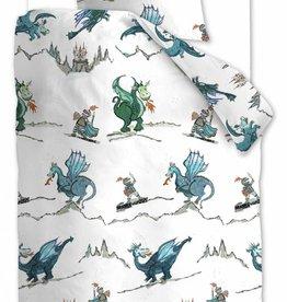 Beddinghouse Dragons, Blauw Groen - Dekbedovertrek