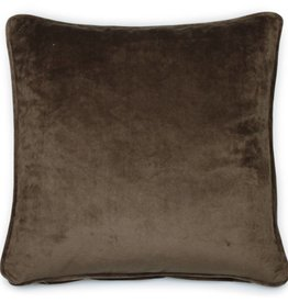 Dutch Decor Sierkussen Velvet 45x45, Taupe