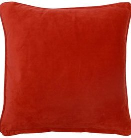 Dutch Decor Kussenhoes Velvet 45x45, Rood