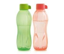 Tupperware collectie 2015 │ Set of 2 Tupperware Eco bottles, 1x orange and 1x green, (500 ml)