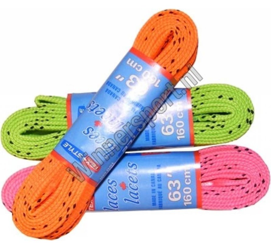 Colored hockey wax laces