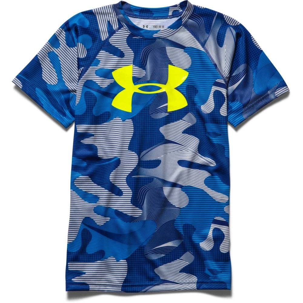 Under armour boys big logo printed t shirt for Logo printed t shirts