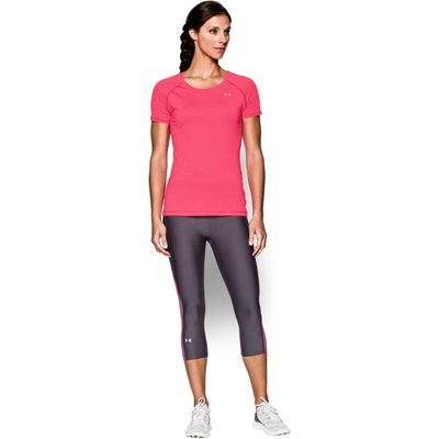 Under Armour Women's Alpha Stripe Short Sleeve T-shirt