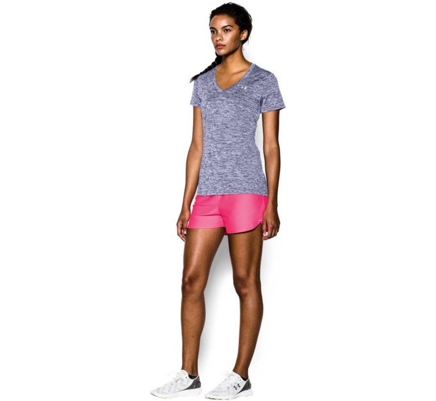 Womens Under Armour Twist Tech Tee with V-neck