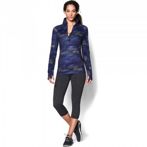 Under Armour Dames ColdGear® Cozy Printed longsleeve shirt met halve rits