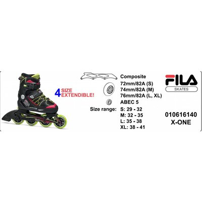 Fila X-one Adjustable Kids Skates Boys 2017