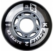 K2 72mm Inline Skate Wheels 8-Pack