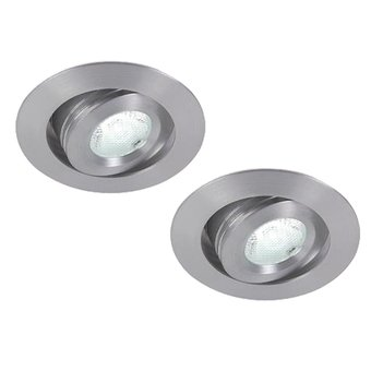 set van 2 Dimbare mini led spots , warm wit licht