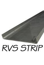 RVS Afdekstrip 260cm x 8cm