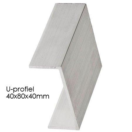 Aluminium U-profile 40x80x40