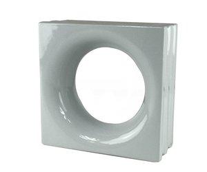 Decoblok rond grijs stuks glazen bouwstenen glasblokken