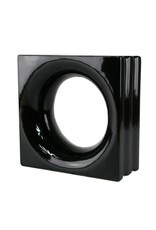 Bouwglas Decoblok round black 6pc.