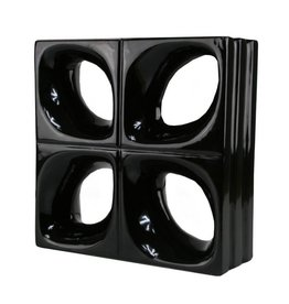 Bouwglas Decoblok Flower black 5pc.