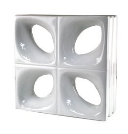Bouwglas Decoblok Flower white 5pc.