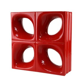Bouwglas Decoblock Flower red 5pc.