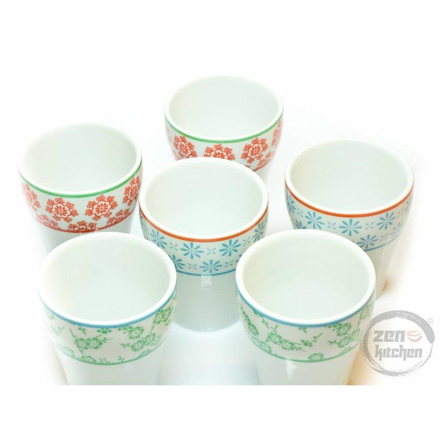 Tea Cups Colors (6-Set)