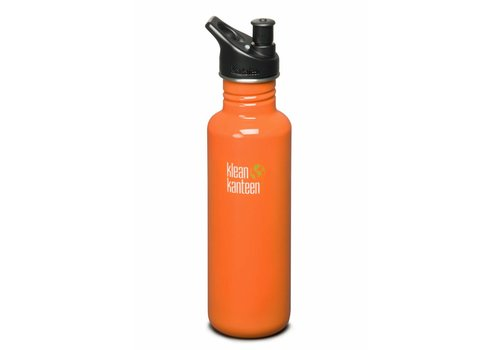 Klean Kanteen Classic Orange + 2 Caps (0.8L)