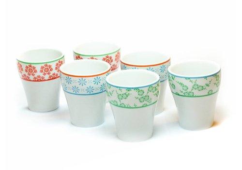 Oriental Selection Tea Cups Colors (6-Set)