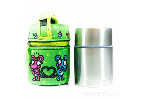 LAKEN Thermo Food Flask (0.5L - Kukuxumusu Verde Raton)