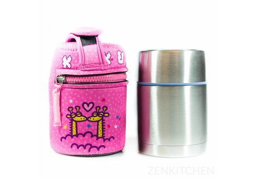 LAKEN Thermo Food Flask (0.5L - Kukuxumusu Jirafa)