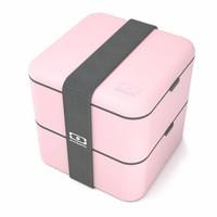 thumb-Bento Box Square (Litchi)-1