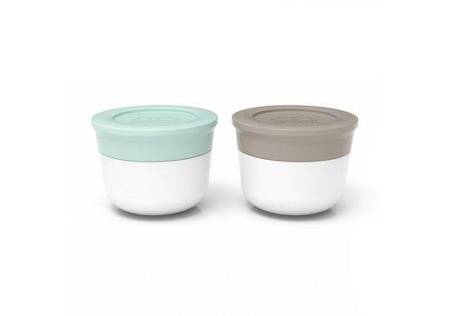 Monbento Sauce Cups Small 2x20ml (Matcha/Grijs)