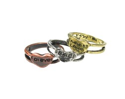 Ring 3 Sister - Gold Silver Bronze