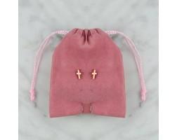 Cross Earrings - Rosé