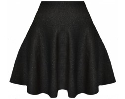 Pretty Little Skirt Black Glitter