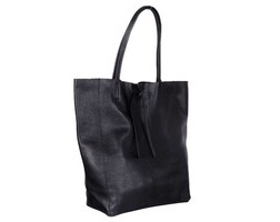 Leather IT Bag - Black